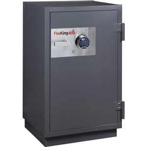 2 HR FIRE RESISTANT SAFE 25-1/2 X 22-7/8 X 41-1/8 ELECTRONIC, KEY LOCK GRAPHITE by Fire King