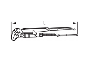 SWEDISH PIPE WRENCH 2-1/3 JAW CAPACITY by Gedore