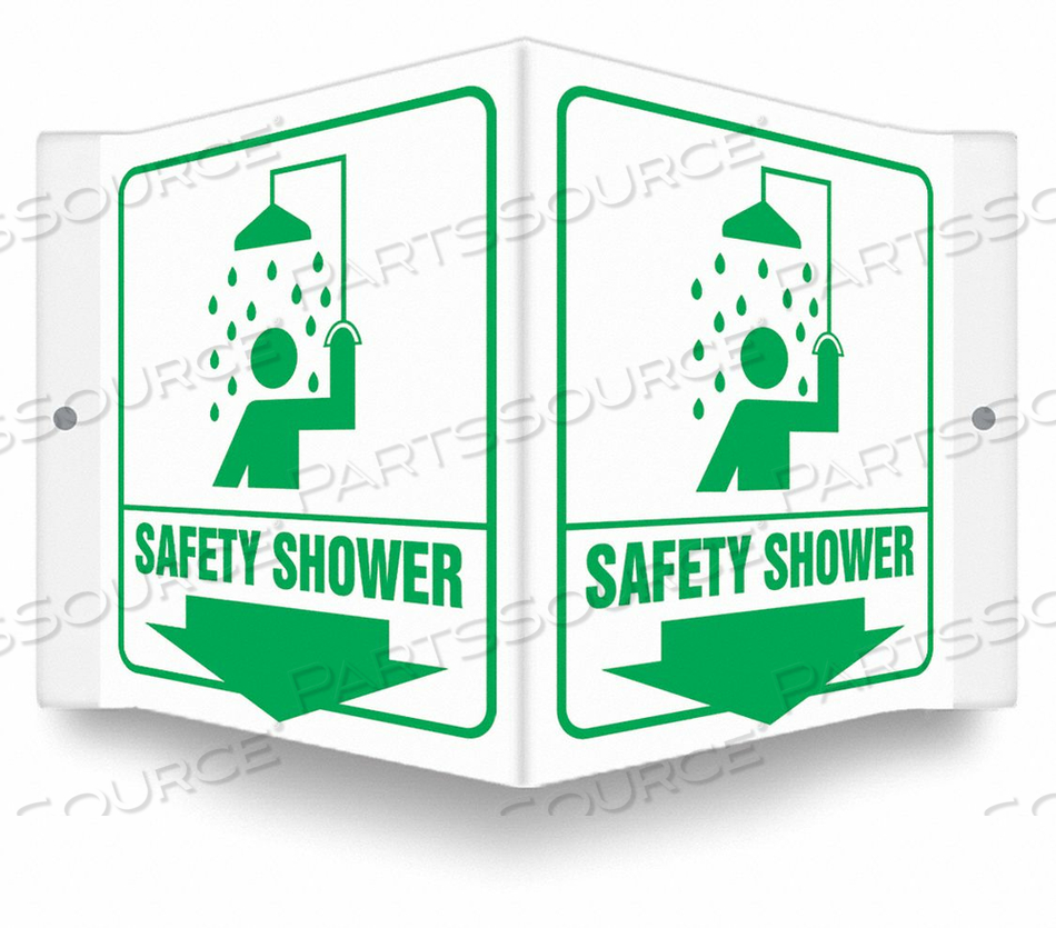 HIGH VISIBILITY SAFETY SIGN 8-1/2 W 6 H by Condor