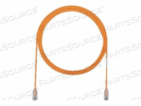 PANDUIT TX6-28 CATEGORY 6 PERFORMANCE - PATCH CABLE - RJ-45 (M) TO RJ-45 (M) - 7.9 IN - UTP - CAT 6 - IEEE 802.3AF/IEEE 802.3AT - BOOTED, HALOGEN-FREE, SNAGLESS, STRANDED - ORANGE - (QTY PER PACK: 48) by Panduit