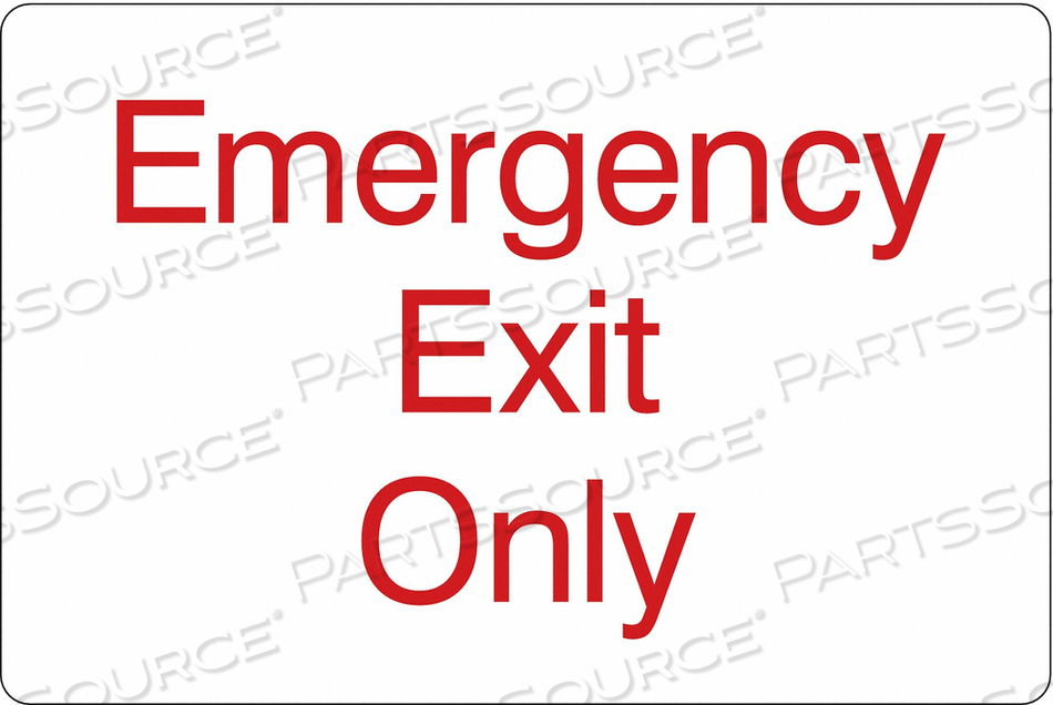 SIGN EMERGENCY EXIT ONLY 6 X9 by Condor