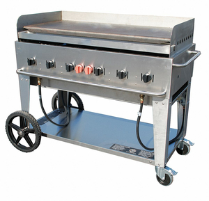 PORTABLE GAS GRIDDLE 6 BURNERS by Crown Verity