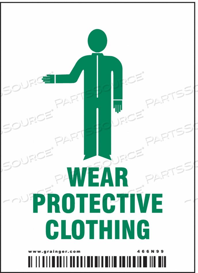SAFETY SIGN 4 H 2.875 W VINYL PK25 by Condor