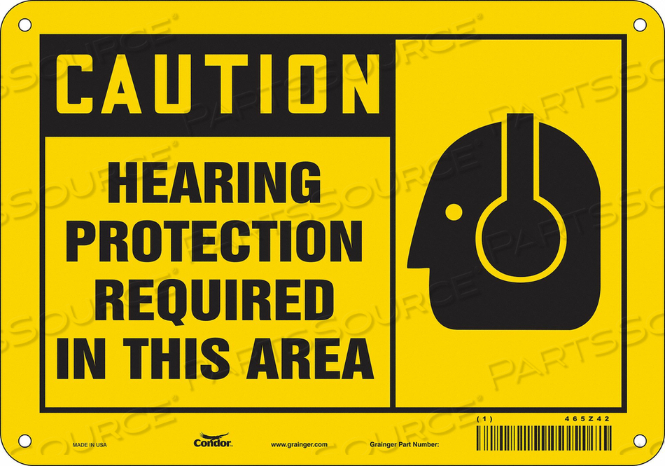 K2004 SAFETY SIGN 10 W 7 H 0.055 THICKNESS by Condor