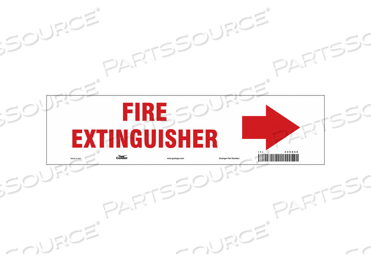 SAFETY SIGN 14 W 3-1/2 H 0.004 THICK by Condor