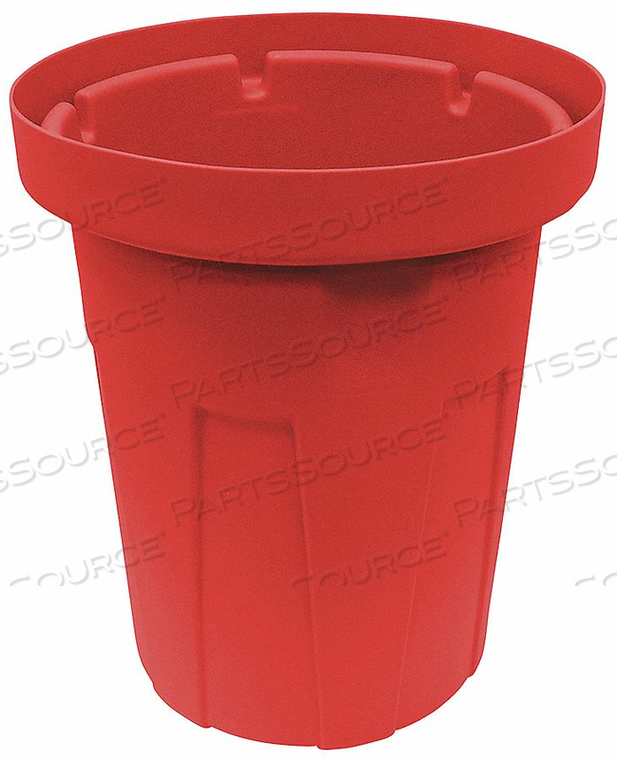 TRASH CAN 55 GAL. RED by Tough Guy