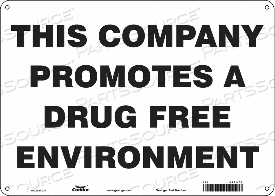 SAFETY SIGN 10 H X 14 W 0.060 THICK by Condor