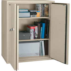 """FIREPROOF STORAGE CABINET, 36""""WX19-1/4""""DX44""""H, PARCHMENT, ASSEMBLED by Fire King"""