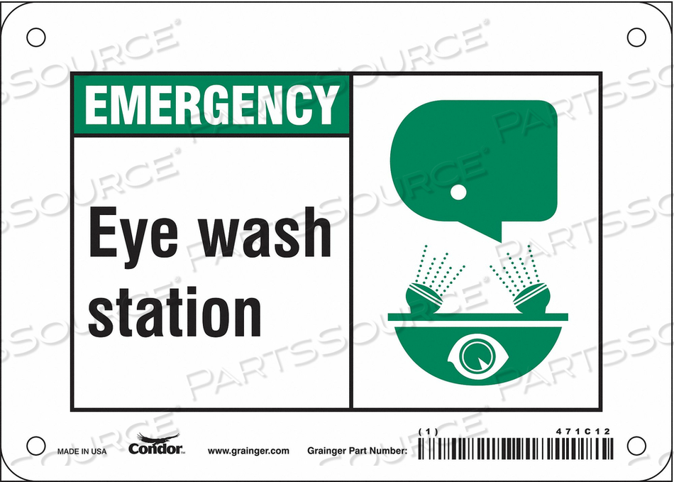 SAFETY SIGN 7 W X 5 H 0.032 THICK by Condor