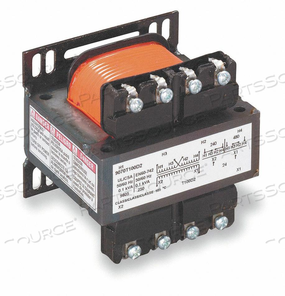 CONTROL TRANSFORMER 100VA 2.89 IN H by Square D