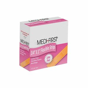 "FLEX STRIP STERILE BANDAGE, 3/4"" X 3"", 50/BOX by Medique"