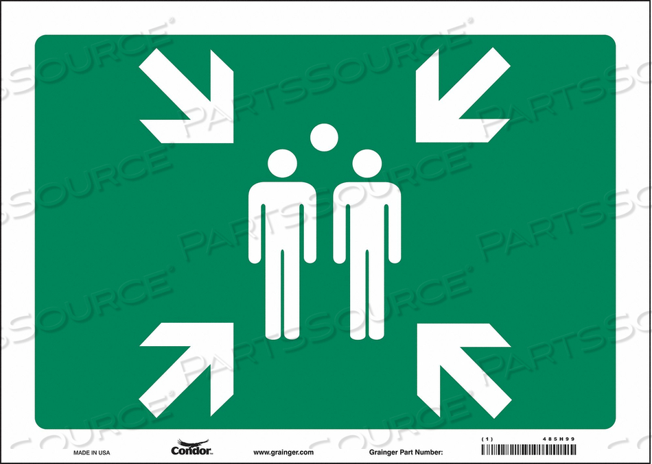 SAFETY SIGN 14 WX10 H 0.004 THICK by Condor