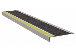 STAIR TREAD YLW/BLK 36IN W EXTRUDED ALUM by Wooster