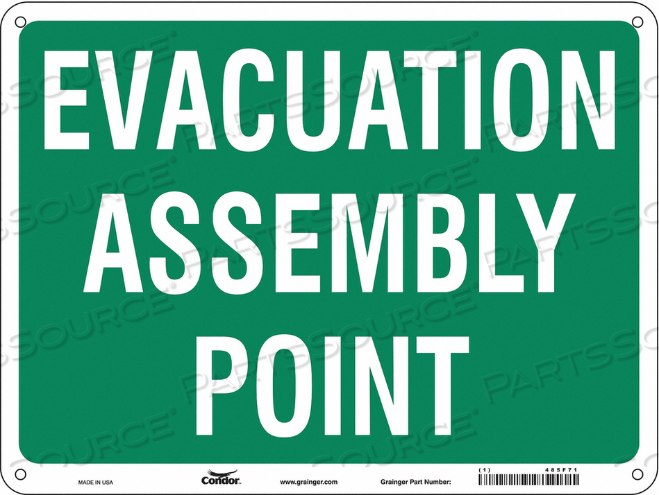 SAFETY SIGN 24 WX18 H 0.055 THICK by Condor