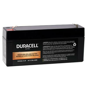 BATTERY, SEALED LEAD ACID, 6V, 3.3 AH, FASTON (F1) by Duracell