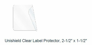 """2.5"""" X 1.5"""" UNISHIELD CLEAR LABEL PROTECTOR by United Ad Label"""