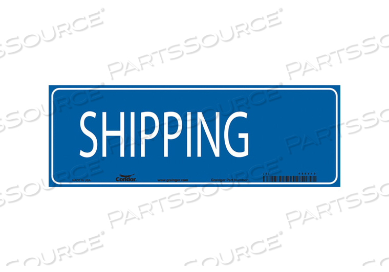 SAFETY SIGN 20 W 7 H 0.032 THICKNESS by Condor