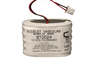 RECHARGEABLE BATTERY PACK, NICKEL METAL HYDRIDE, 12V, 0.2 AH, WIRE LEADS by Natus Medical - Nicolet Dopplers