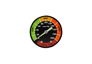 ANALOG VACUUM GAUGE ASSEMBLY, 0 TO 200 MMHG, MEETS ANSI by Ohio Medical, LLC