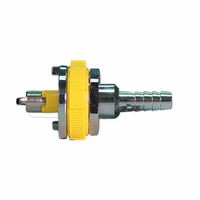 ADAPTER, 1/4 IN HOSE BARB, YELLOW, AIR by Amvex (Ohio Medical, LLC)