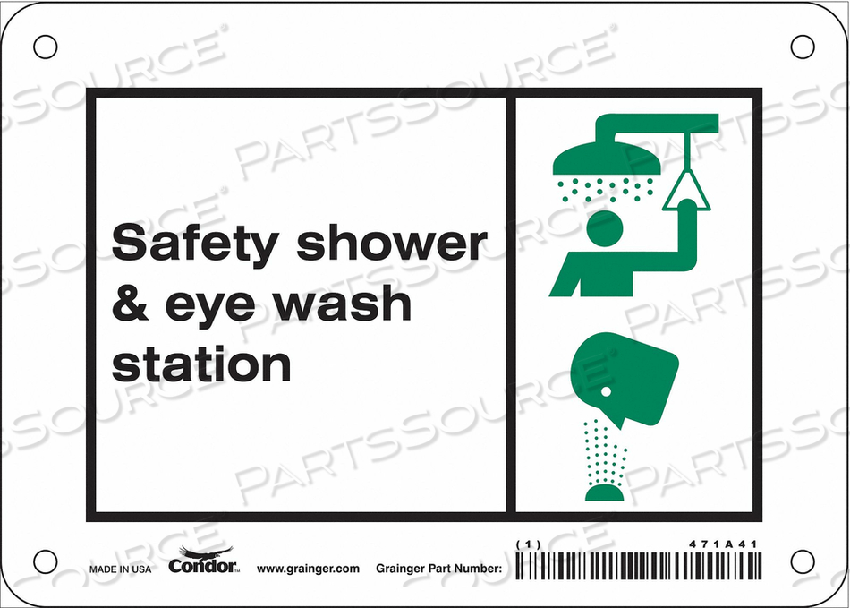 SAFETY SIGN 7 W X 5 H 0.055 THICK by Condor