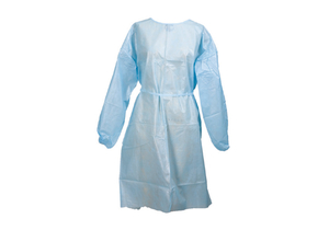 PROTECTIVE PROCEDURE GOWN, ONE SIZE FITS MOST, WHITE, NONSTERILE, DISPOSABLE (10/PK) by McKesson