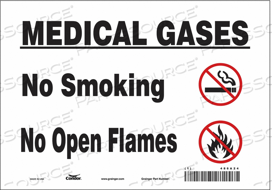 CHEMICAL SIGN 10 W 7 H 0.004 THICKNESS by Condor