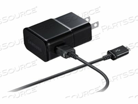 SAMSUNG TRAVEL CHARGER EP-TA12JBEU - POWER ADAPTER - AC / USB ( 11 PIN MICRO-USB (MHL) ) - ON CABLE: MICRO-USB - FOR GALAXY NOTE 10.1, NOTE 10.1 LTE, NOTE 8.0, TAB 3 (7 IN), TAB A (8 IN, 9.7 IN)