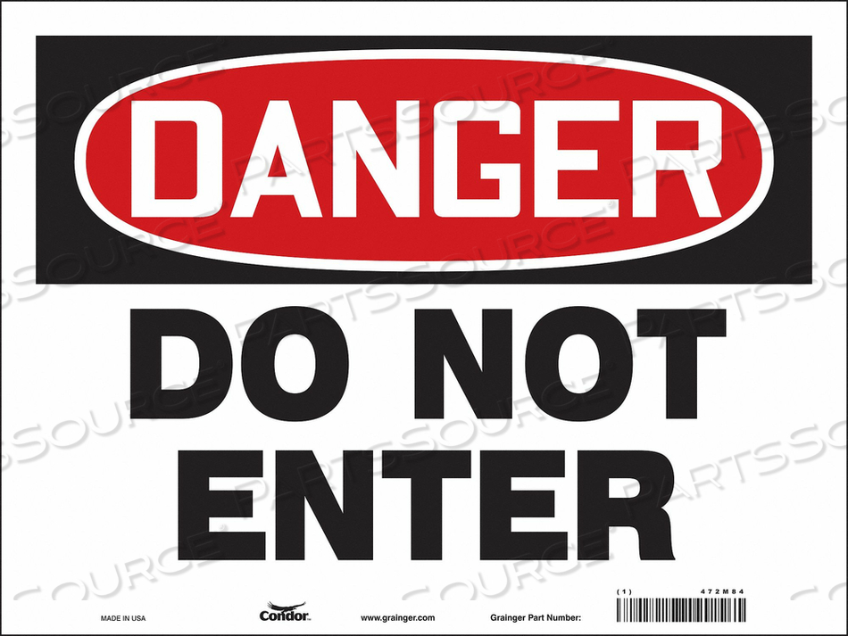 J6922 SAFETY SIGN 24 W 18 H 0.004 THICKNESS by Condor