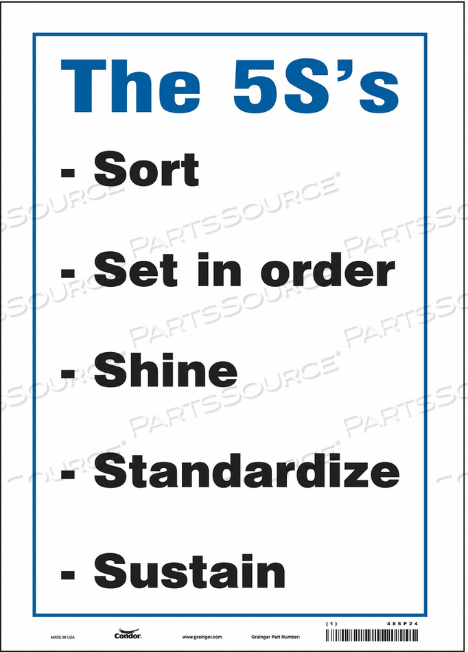 SAFETY SIGN 10 W 14 H 0.004 THICKNESS by Condor