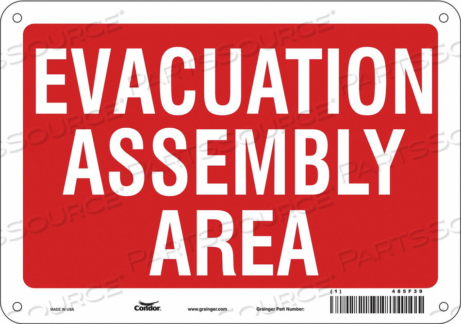 J9330 SAFETY SIGN 10 WX7 H 0.032 THICK by Condor