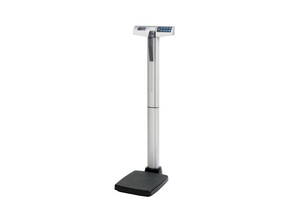 DIGITAL EYE-LEVEL STAND-ON SCALE WITH HEIGHT ROD AND POWER ADAPTER, 500 LB X 0.2 LB by Health o meter Professional Scales