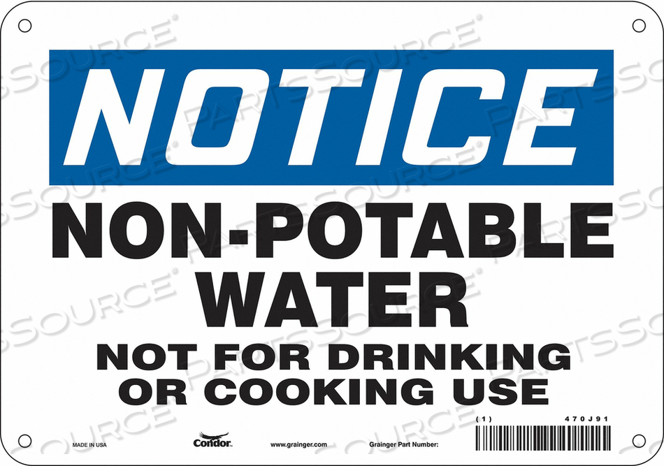 SAFETY SIGN 10 W X 7 H 0.060 THICK by Condor