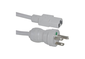 8FT 18 AWG NEMA 5-15P - C13 HOSPITAL GRADE POWER CORD - GREY by Allied Healthcare Products, Inc.