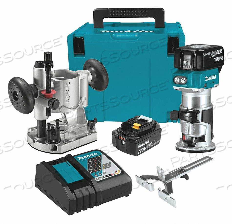 COMPACT ROUTER KIT OVERALL 5-1/4 H by Makita