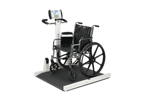 WHEELCHAIR SCALE, PORTABLE, DIGITAL, FOLDING COLUMN, 1000 LB X 0.2 LB by Detecto Scale / Cardinal Scale