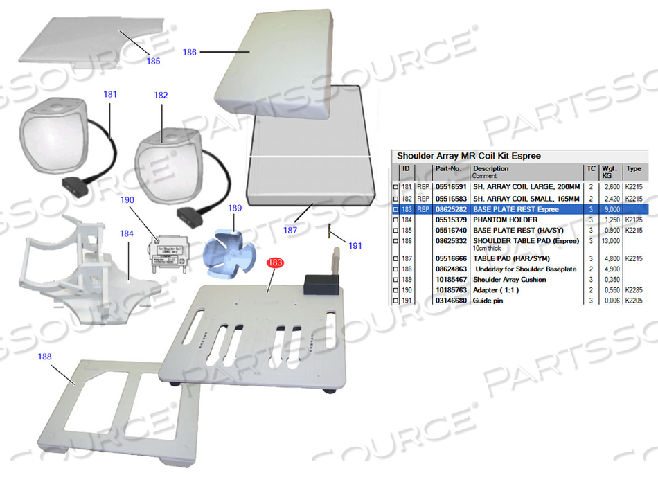 BASE PLATE by Siemens Medical Solutions
