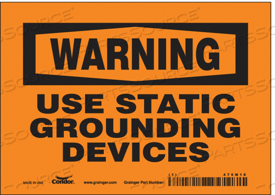 DANGER SIGN 7 W X 5 H 0.004 THICKNESS by Condor