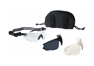 BALLISTIC SAFETY GLASSES CLEAR SMOKE ESP by Bolle Safety