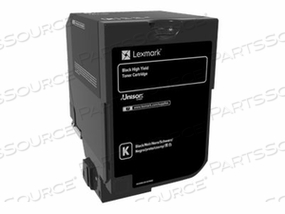 LEXMARK - HIGH YIELD - BLACK - ORIGINAL - TONER CARTRIDGE LCCP - FOR LEXMARK CX725DE, CX725DHE, CX725DTHE by Lexmark