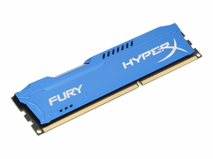KINGSTON HYPERX FURY - DDR3 - 8 GB - DIMM 240-PIN - 1333 MHZ / PC3-10600 - CL9 - 1.5 V - UNBUFFERED - NON-ECC - BLUE by Kingston Technology