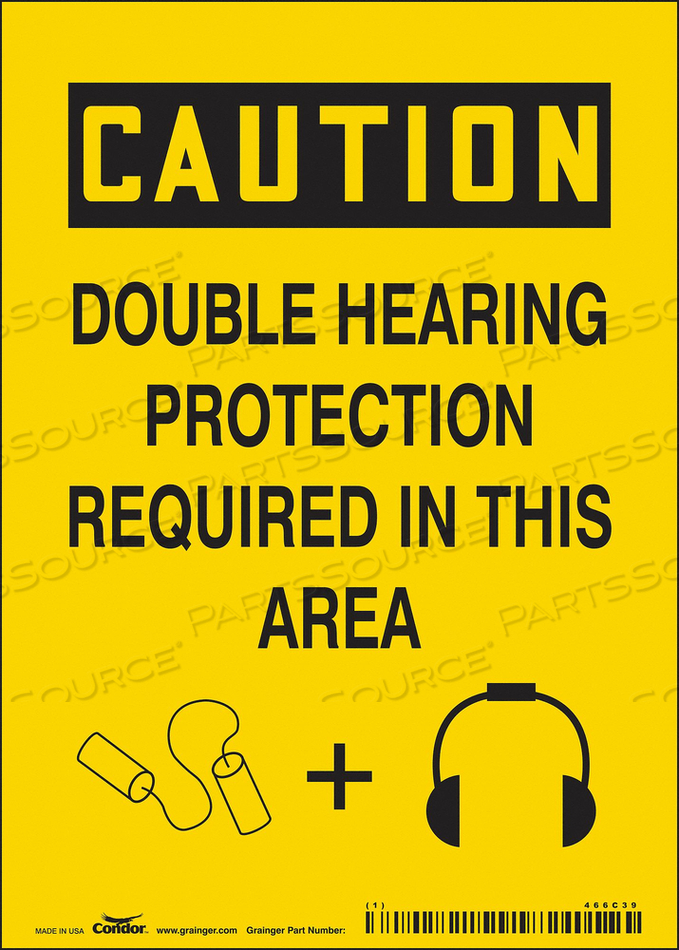 J6949 SAFETY SIGN 5 W 7 H 0.004 THICKNESS by Condor
