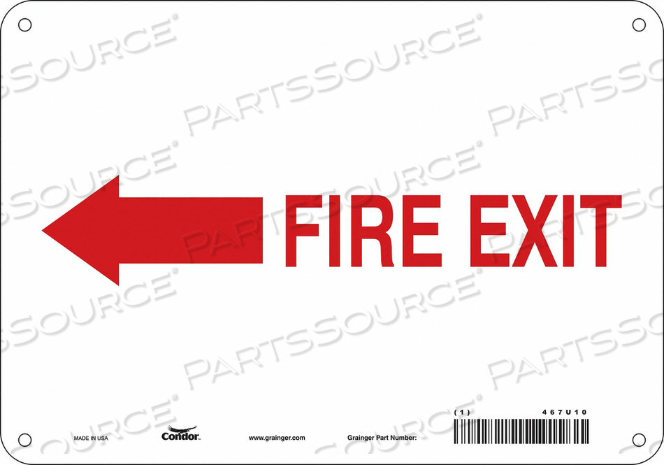 J7057 SAFETY SIGN 7 X10 PLASTIC by Condor