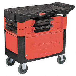 MOBILE CAB BENCH PLASTIC 38 W 19-1/4 D by Rubbermaid Medical Division