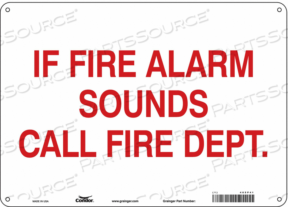 SAFETY SIGN 14 W X 10 H 0.055 THICKNESS by Condor