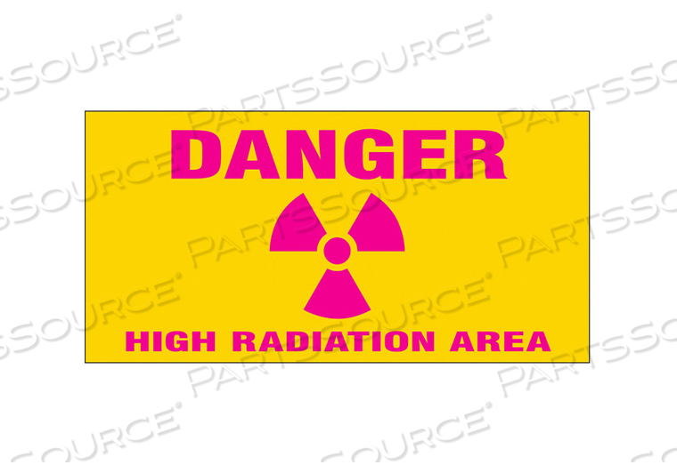 RADIATION SLIDE SIGN INSERT 8 W 4 H by Condor