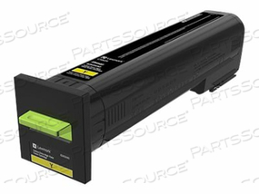 LEXMARK - EXTRA HIGH YIELD - YELLOW - ORIGINAL - TONER CARTRIDGE LCCP - FOR LEXMARK CX825DE, CX825DTE, CX825DTFE