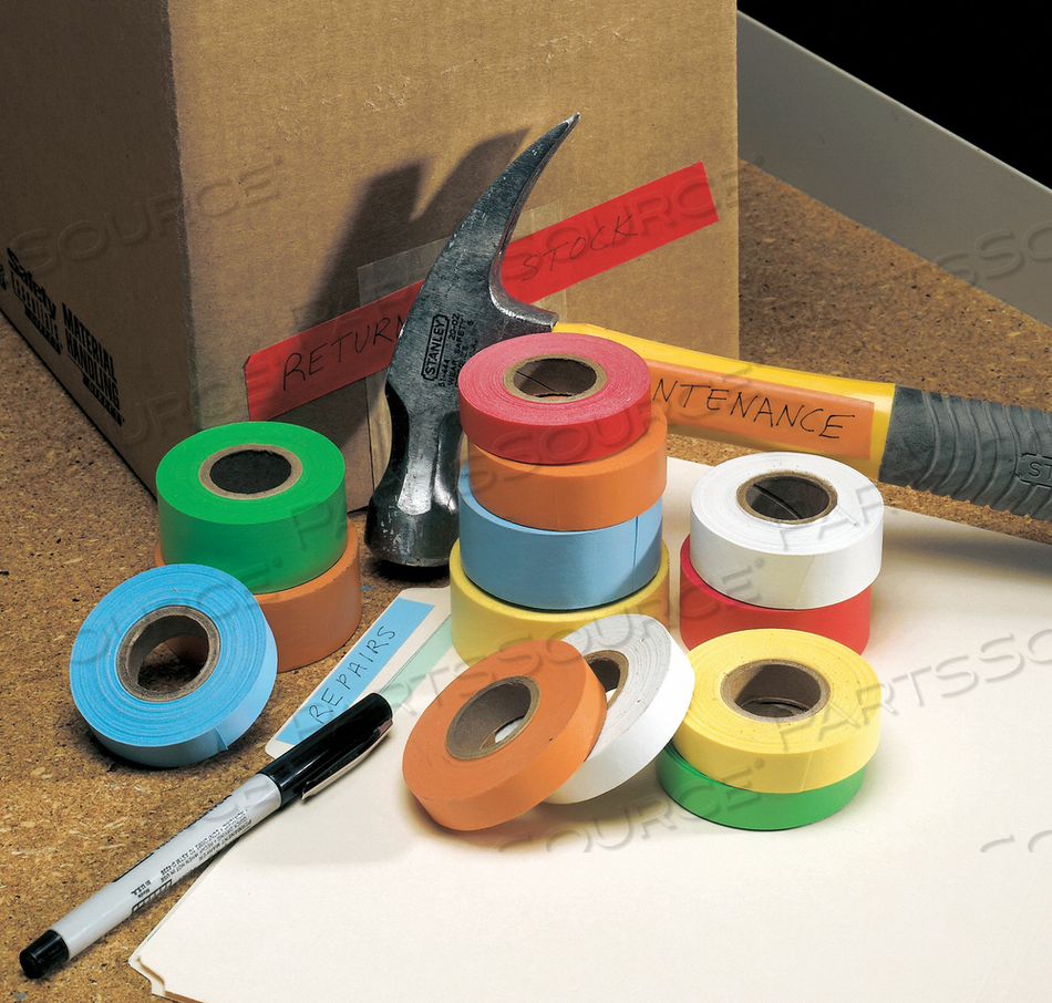 MASKING TAPE KRAFT PAPER RED 3/4 by Roll Products