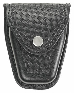 HANDCUFF POUCH SYNTHETIC LEATHER BLACK by Heros Pride