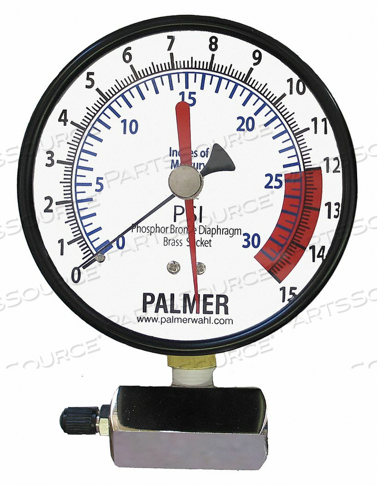 GAS TEST GAUGE 15 PSI-30 IN HG by Wahl